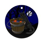Halloween Ornament Keepsake Black Cat Decoration