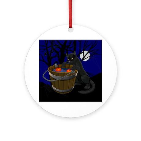 Halloween Ornament Keepsake Black Cat Decoration