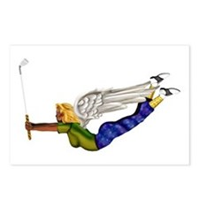 Lucky Golf Angel Postcards (Package of 8)