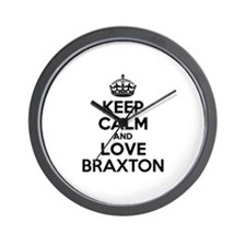 Keep Calm and Love BRAXTON Wall Clock