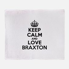 Keep Calm and Love BRAXTON Throw Blanket