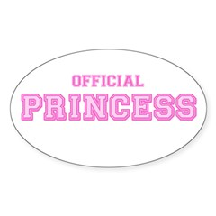Official Princess Oval Decal