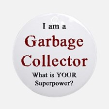 garbage collector Round Ornament