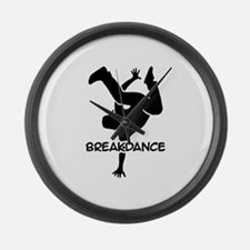 Breakdance Large Wall Clock