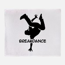 Breakdance Throw Blanket