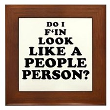 Rude People Person Framed Tile