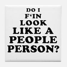 Rude People Person Tile Coaster