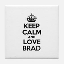 Keep Calm and Love BRAD Tile Coaster