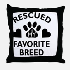 Cute Adopt a pet adoption animal rescue Throw Pillow