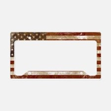 Worn out American Flag License Plate Holder