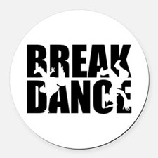 Breakdance Round Car Magnet