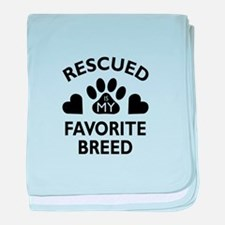 Rescued Breed baby blanket