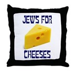 Jews for Cheeses Throw Pillow
