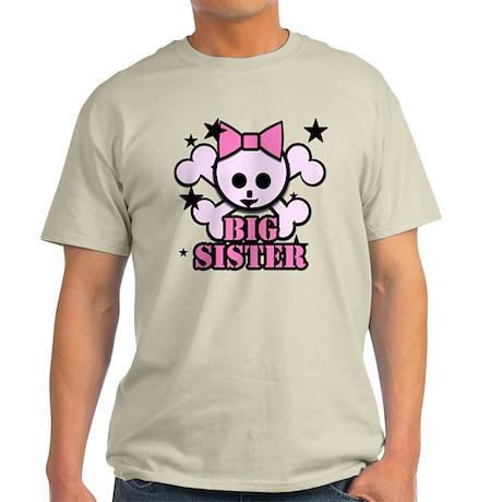 Pink bow skull big sister T-Shirt