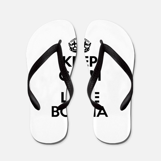 Keep Calm and Love BORGIA Flip Flops
