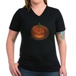 Halloween Women's V-Neck Dark T-Shirt