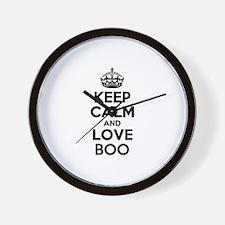 Keep Calm and Love BOO Wall Clock