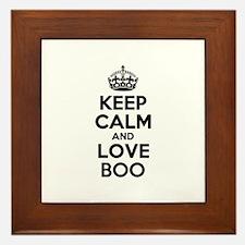 Keep Calm and Love BOO Framed Tile