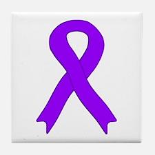 Violet Ribbon Tile Coaster