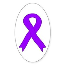 Violet Ribbon Oval Decal