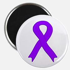"""Violet Ribbon 2.25"""" Magnet (100 pack)"""