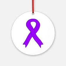 Violet Ribbon Ornament (Round)