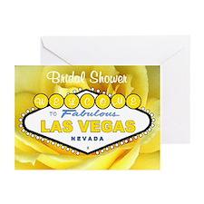 Las Vegas Bridal Shower Yellow Rose Cards 10