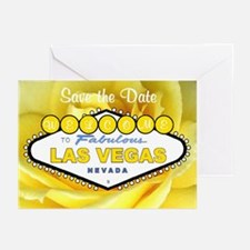 Las Vegas Save tje Date Yellow Rose Cards 10