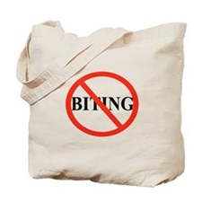 No Biting Tote Bag