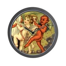 Halloween Baby Devil Postcard Art Wall Clock