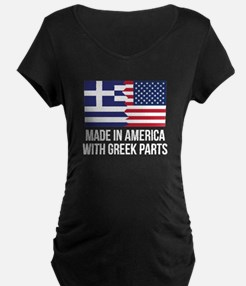 Made In America With Greek Parts Maternity T-Shirt