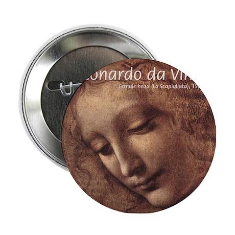 da Vinci Renaissance Painting Button