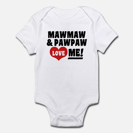 MawMaw and PawPaw Love Me Infant Bodysuit