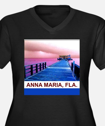 Pink and blue Rod & Reel Pier Plus Size T-Shirt