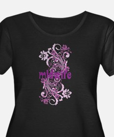 Midwife Floral Swirl Plus Size T-Shirt