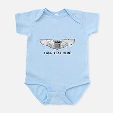 PERSONALIZED PILOT WINGS Infant Bodysuit