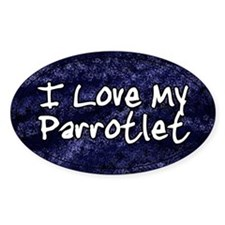 Funky Love Parrotlet Oval Decal