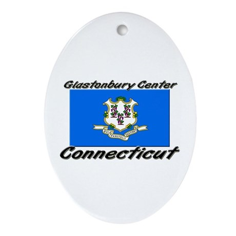 Glastonbury Center Connecticut Oval Ornament