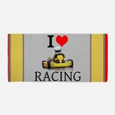 I Love Kart Racing Beach Towel