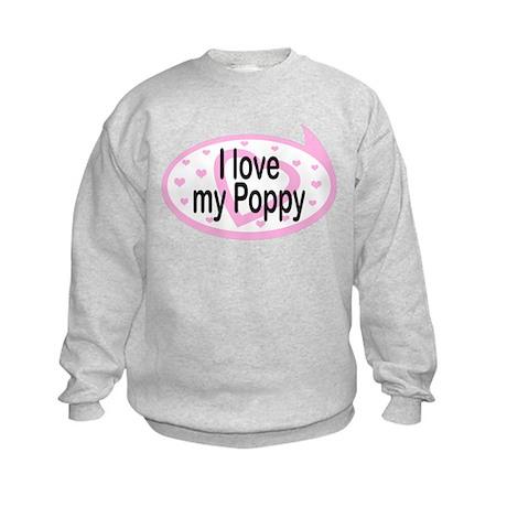 I Love Poppy TALK BUBBLE Kids Sweatshirt