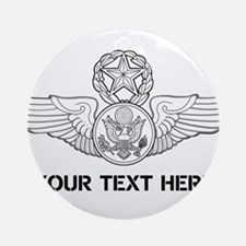 PERSONALIZED MASTER ENLISTED AIRCRE Round Ornament