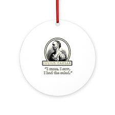 Funny Julius Caesar Salad Ornament (Round)