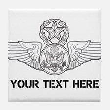 PERSONALIZED MASTER ENLISTED AIRCREW Tile Coaster