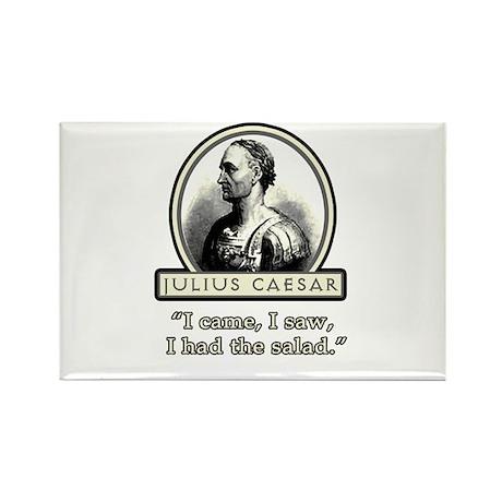 Funny Julius Caesar Salad Rectangle Magnet