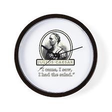 Funny Julius Caesar Salad Wall Clock