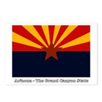 AZ Flag w/Title Postcards (Package of 8)