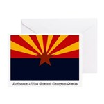AZ Flag w/Title Greeting Cards (Pk of 10)