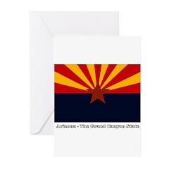 AZ Flag w/Title Greeting Cards (Pk of 20)