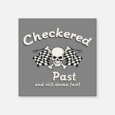"""Checkered Past Square Sticker 3"""" x 3"""""""