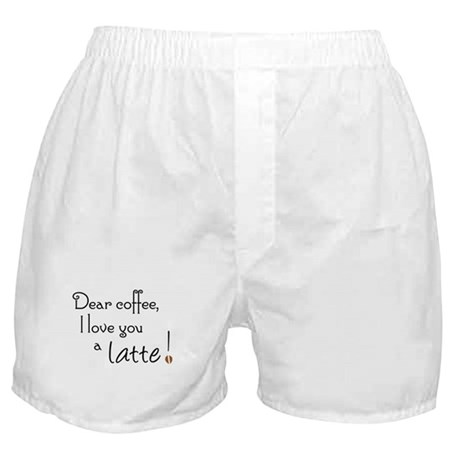 Coffee Love A Latte Boxer Shorts